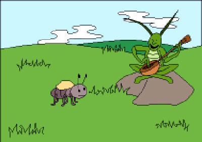 Ağustos Böceği ve Karınca